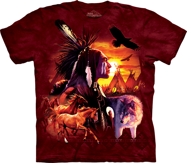 Indian Collage Native American T-Shirt by David Penfound