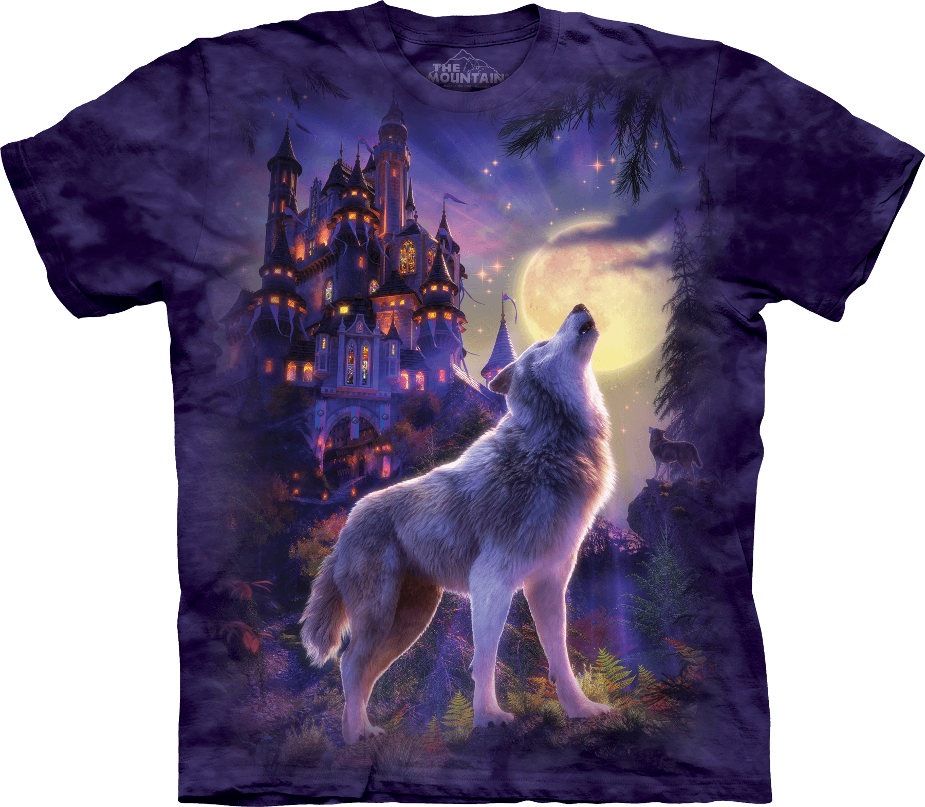 Wolf Castle T-Shirt by David Penfound