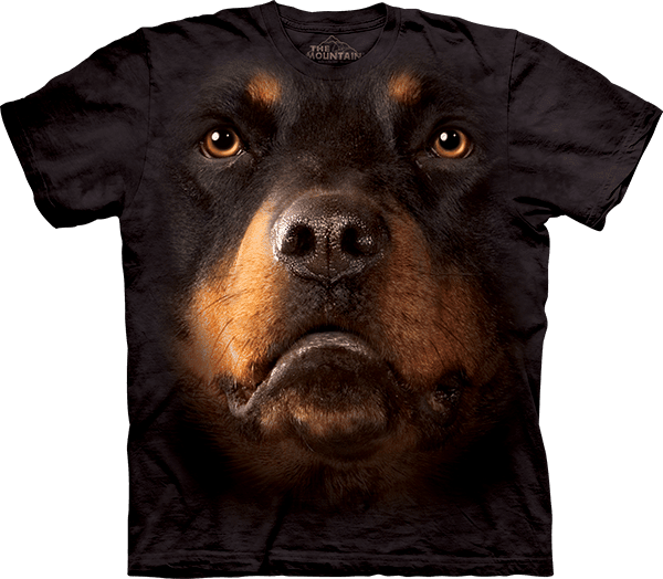 Rottweiler Face T-Shirt by The Mountain