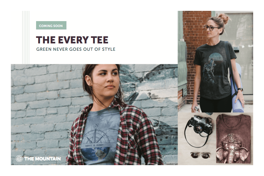 Sneek Peek at The Every Tee by The Mountain