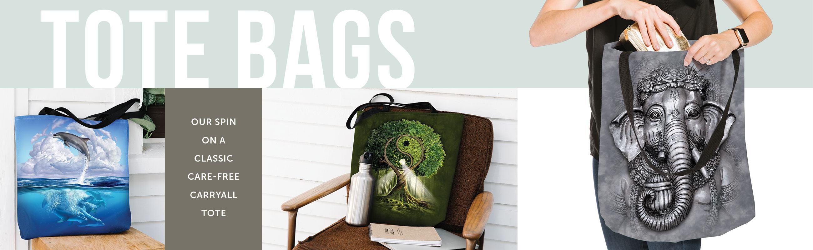 The Mountain Tote Bags
